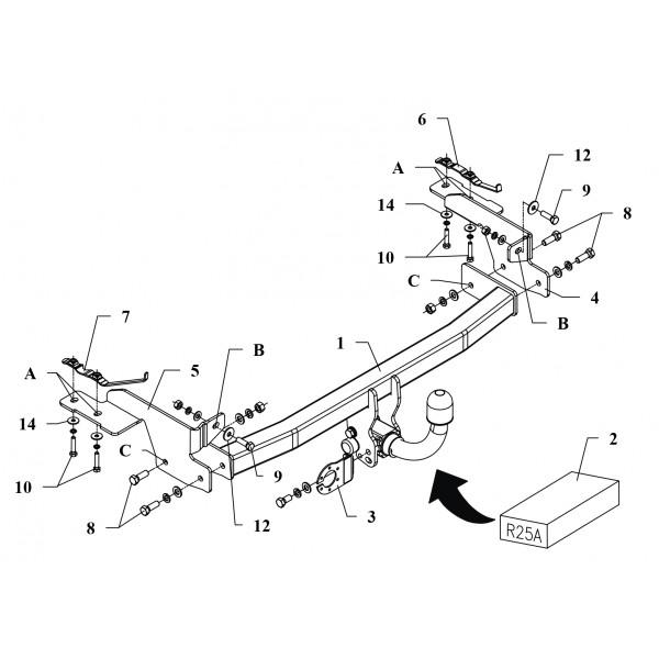 Attelage Fiat Punto RDSOH + faisceau universel multiplexé