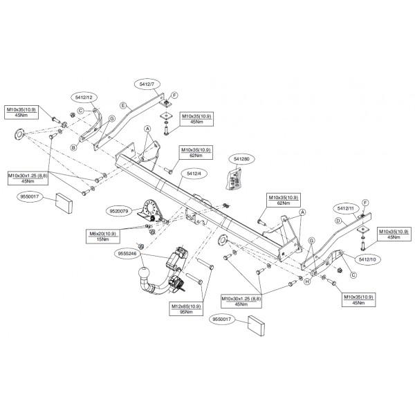 Attelage Fiat Doblo / Cargo RDSOD 21081