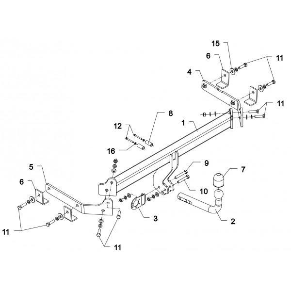Attelage Mazda CX7 Col de cygne + faisceau universel