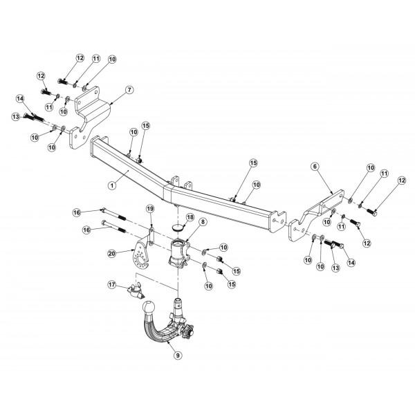 Attelage Hyundai I20 Active RDSOV + faisceau universel 7