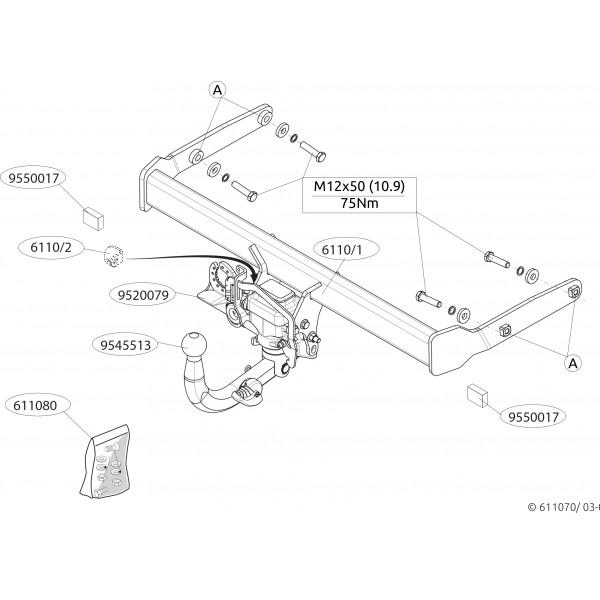 Attelage Audi A4 B9 Break Escamotable 21685