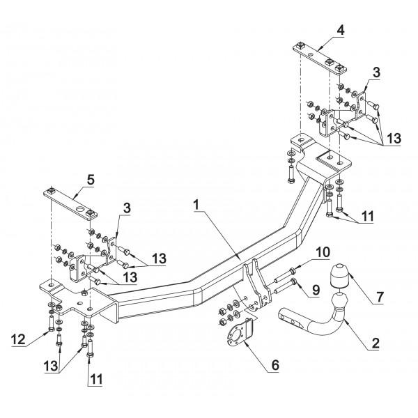 Attelage Volvo 850 Col de cygne + faisceau universel 7
