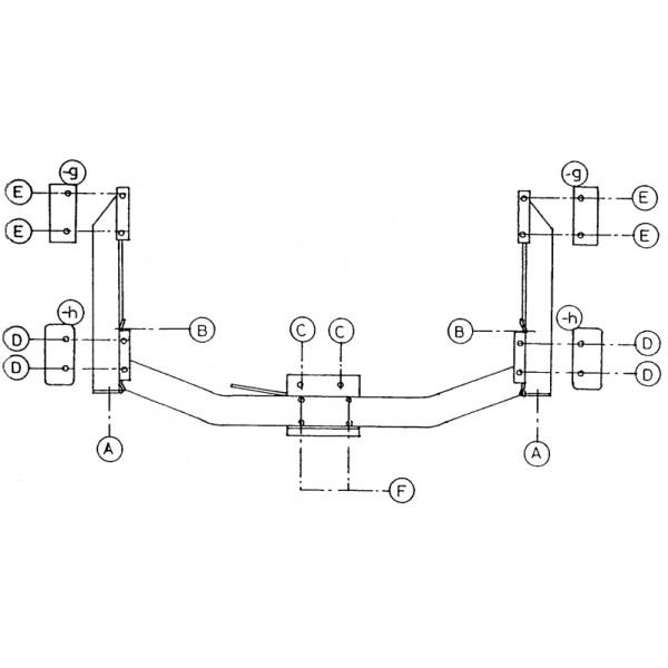 Attelage Citroen XM Break Col de cygne 21187