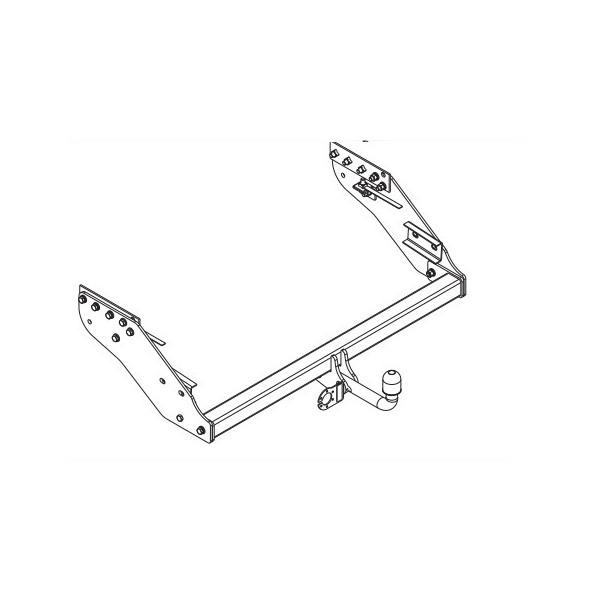 Attelage Mitsubishi L200 4x4 Col de cygne + faisceau
