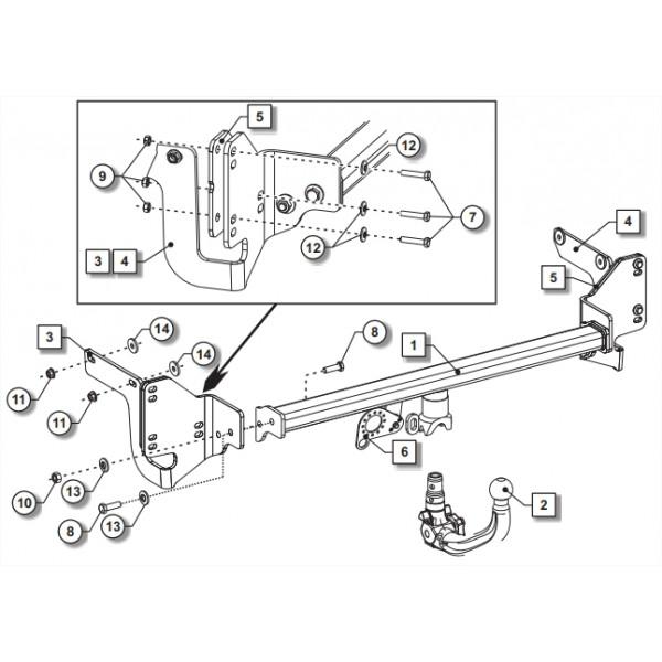 Attelage Citroen C4 Picasso RDSOV + faisceau universel 7
