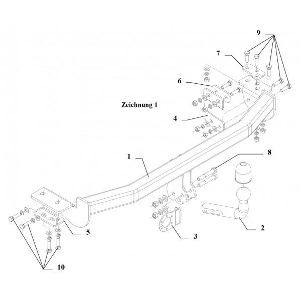 Attelage Nissan Almera Col de cygne + faisceau universel 7