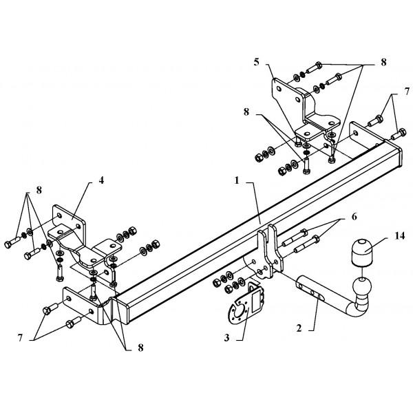 Attelage Mitsubishi Space Wagon Col de cygne + faisceau