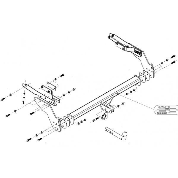 Attelage Nissan Pick-up D22 Col de cygne + faisceau