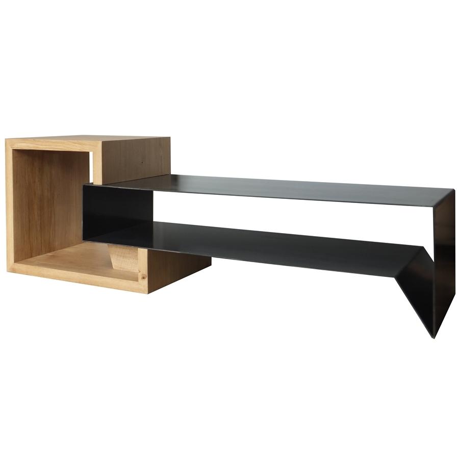 meuble tv en metal et bois konnect