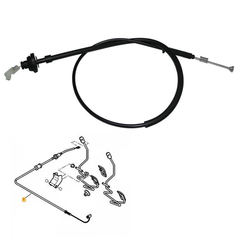 Câble d'accélérateur pour Peugeot 106 206 306 Citroën Xsara