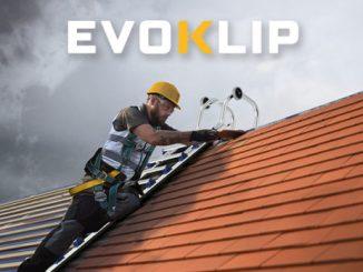 Evoklip nouvelle échelle de toit après Klipéo Tubesca Comabi matériel de qualité couvreur charpentier travail en hauteur toiture