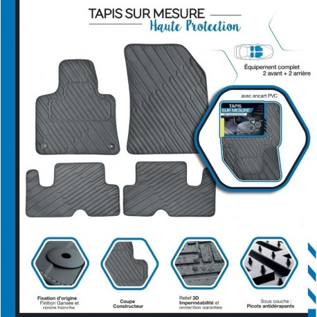 tapis de sol auto sur mesure pvc pour renault kadjar