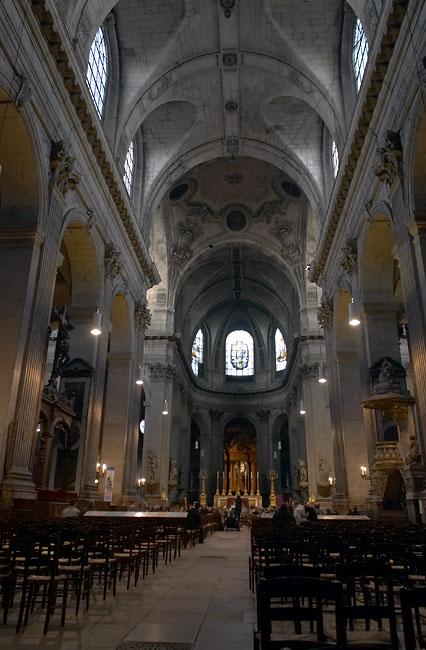 Inside the Saint Sulpice church  Latin Quarter  France in Photos