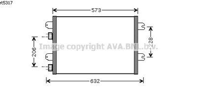 Condenseur de climatisation pour RENAULT MEGANE (1) DE 03
