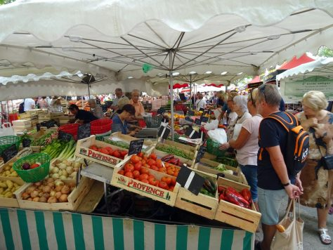 South of France food market