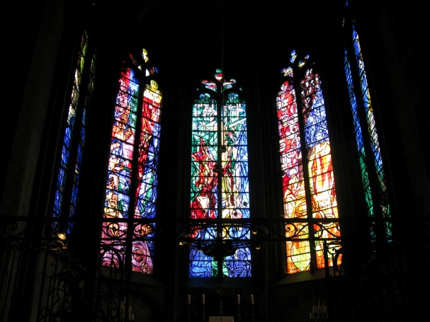Stained glass windows by Chagall, Gothic Cathedral Metz