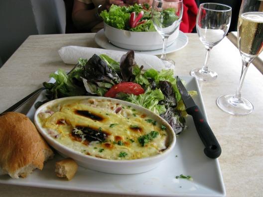Enjoying tartiflette in Reims