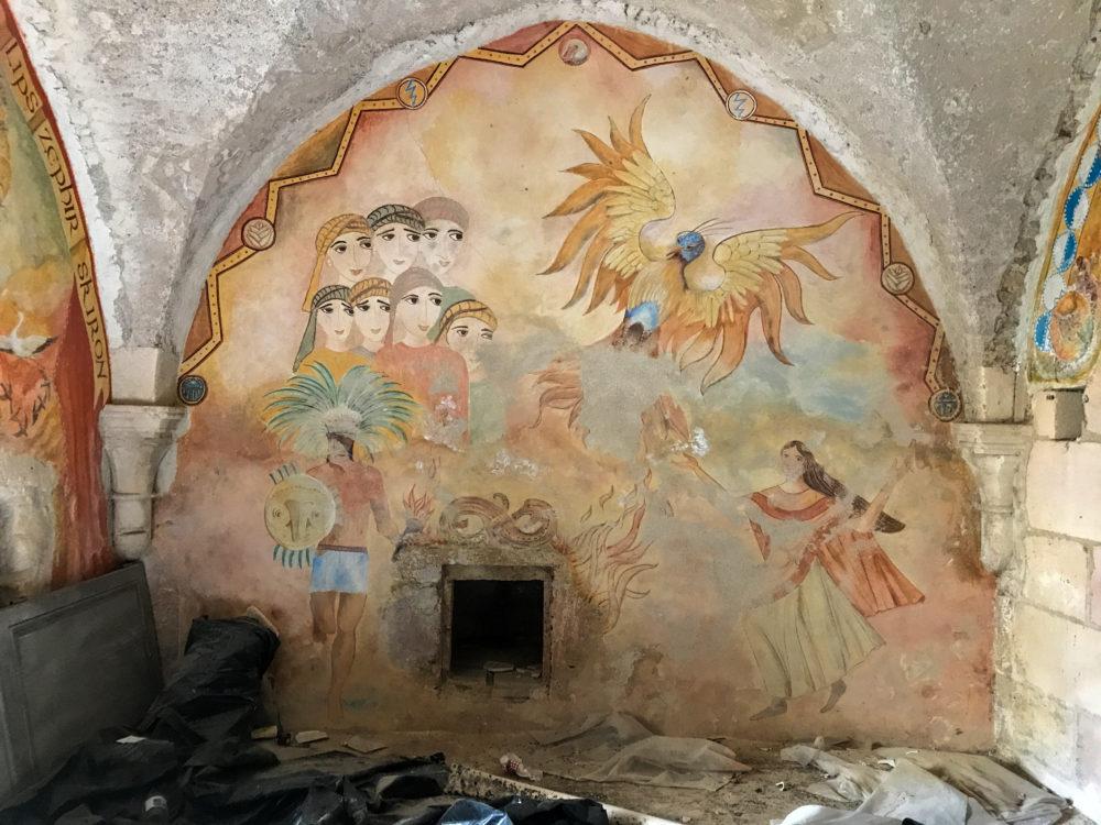 Frescoes beneath the Abbey at St-Savin