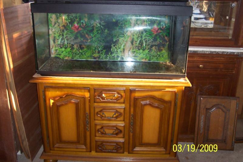 troc echange aquarium 200l meuble