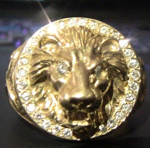 Troc Echange Chevalire Tte De Lion 154g OR 18k Diamant