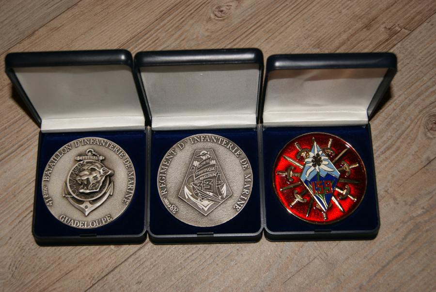 Troc Echange 3 Medailles 41 RIMa 33 RIMa 159 RIA Sur