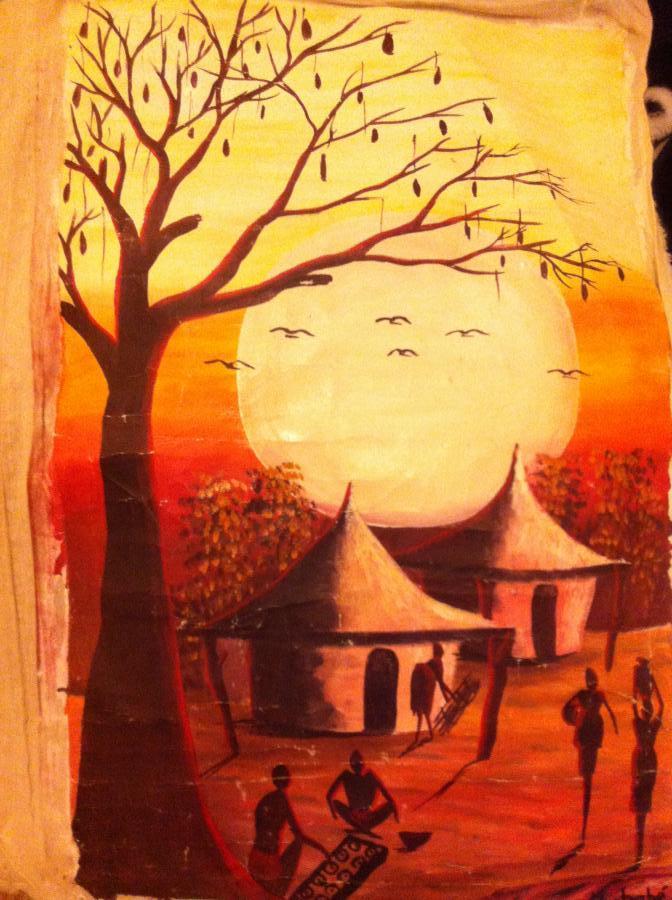 Troc Echange Peinture Africaine Sur