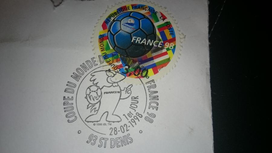 Troc Echange Pice 10e Timbre Enveloppe Coupe Du Monde