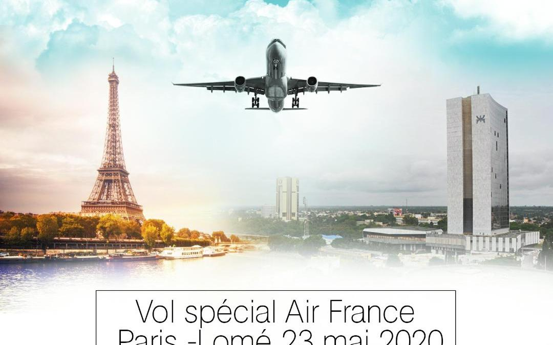 Vol spécial Air France Paris-Lomé le 23 mai