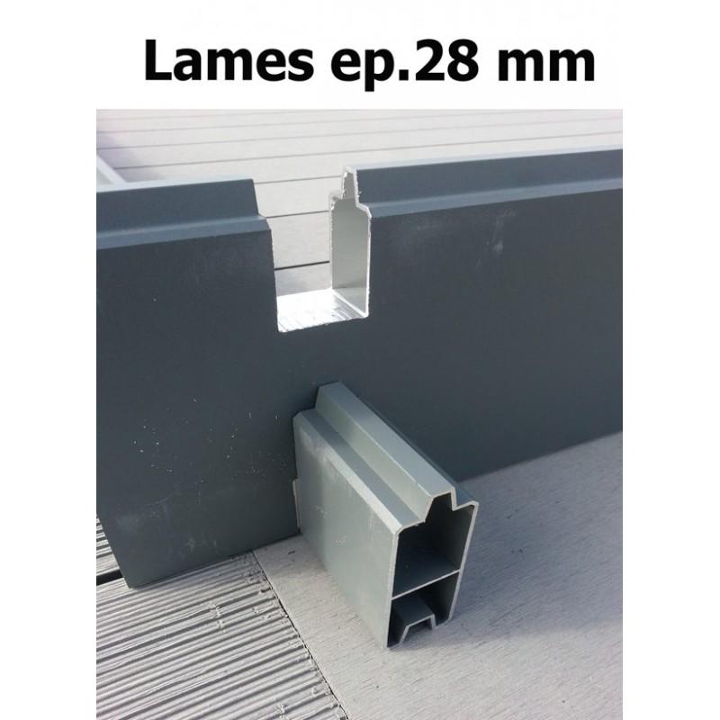 ABRI JARDIN PVC HAUT DE GAMME  LAMES PVC COMPOSITE  PROMO
