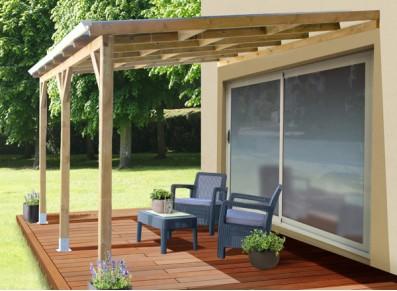 toit terrasse adosse bois traite discount