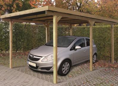 CARPORT TOIT PLAT  en bois trait autoclave