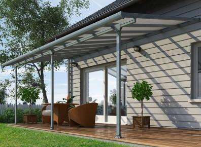 Toit Terrasse Aluminium Amp Polycarbonate Gris