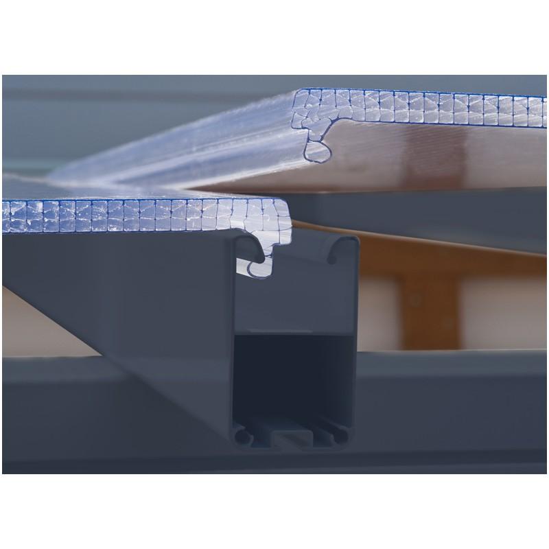 Toit terrasse Aluminium  Polycarbonate Gris