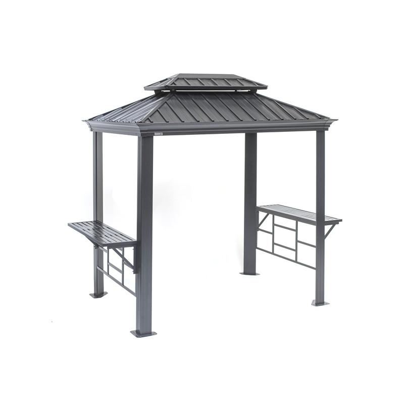 abri barbecue en aluminium pour jardin