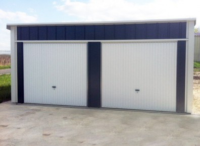 GARAGE DOUBLE EN METAL 6x5m  un garage une pente et une couverture en acier galvanis