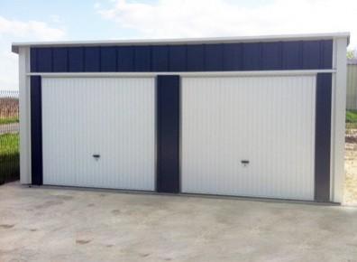 Garage Double En Metal 6x5m Un Garage Une Pente Et Une
