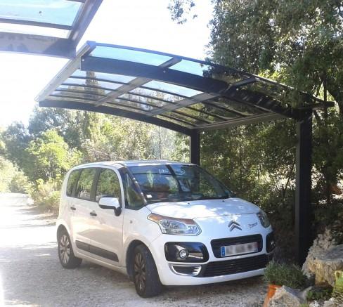 carport en aluminium 2 pieds moderne