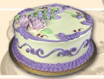 Gâteau personnalisé à la vanille