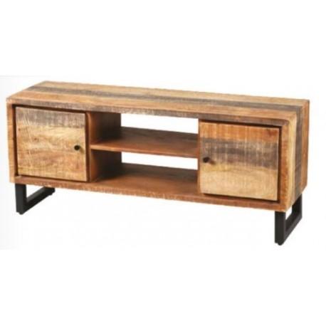meuble pour la tele en bois massif de recuperation palissandre pas cher