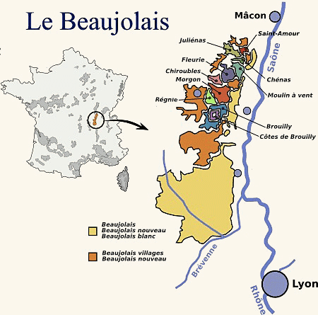 Carte du beaujolais