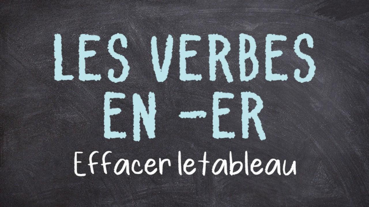 Les Verbes En Er Au Present Principe De Conjugaison France Podcasts