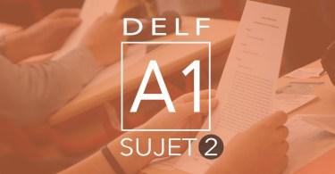 DELF A1 - sujet 2