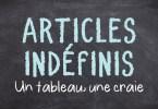 Articles indéfinis
