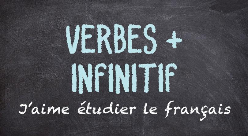 Verbes + infinitif