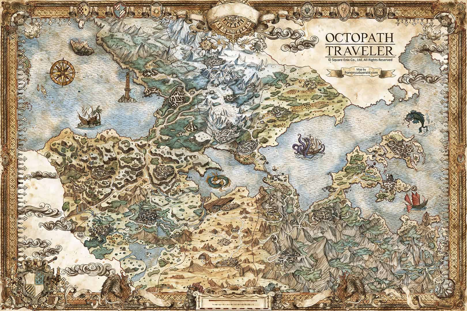 Francesca Baerald - Freelance Fantasy Map Artist and Cartographer