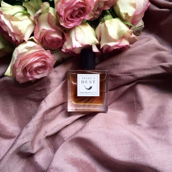 Angel's Dust and pink roses | Francesca Bianchi Perfumes