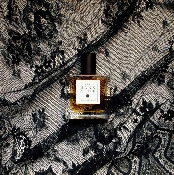 Dark Side over black textile | Francesca Bianchi Perfumes