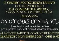 Ludopatia, se ne parlerà a Tortora domani 7 novembre