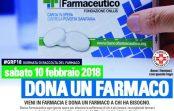 Il 10 febbraio si ripete la Giornata della raccolta del Farmaco, anche in Calabria