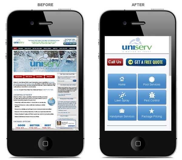 pagina web mobile